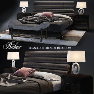 baker jean-louis deniot bedroom 3d model