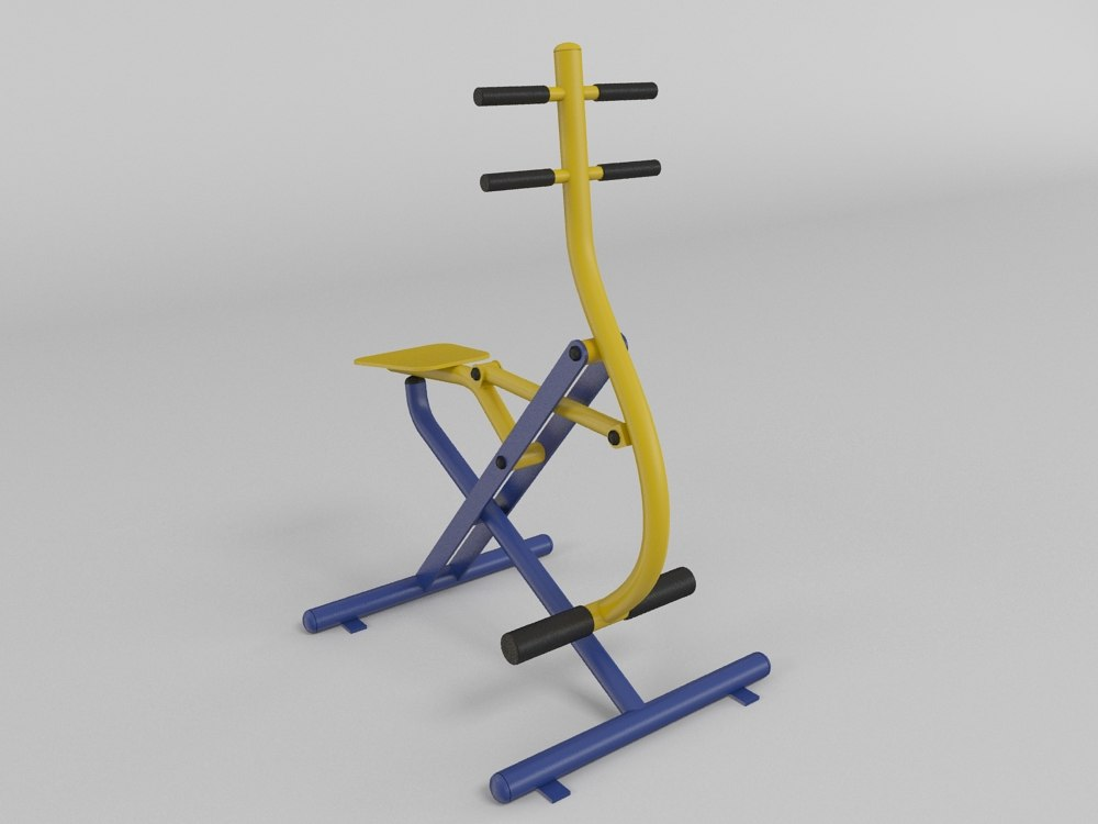 3d model of outdoor fitness gym equipment
