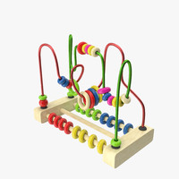 wire maze bead toy 3d model