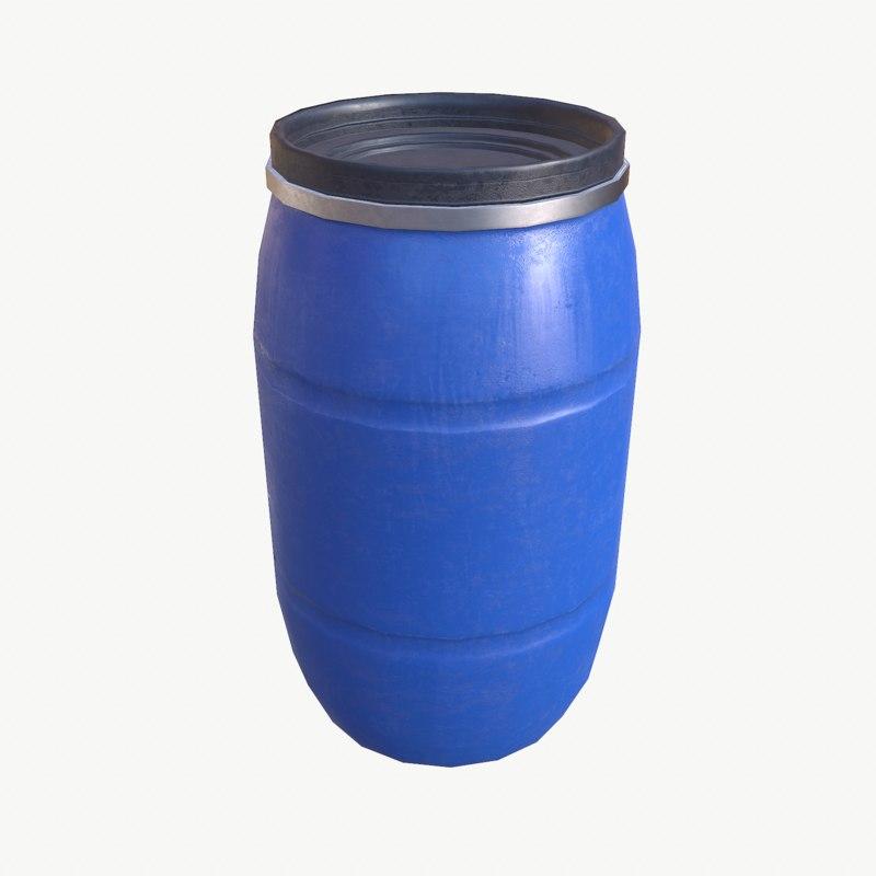 plastic barrel 3d max