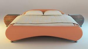 3d blender bed 2 model