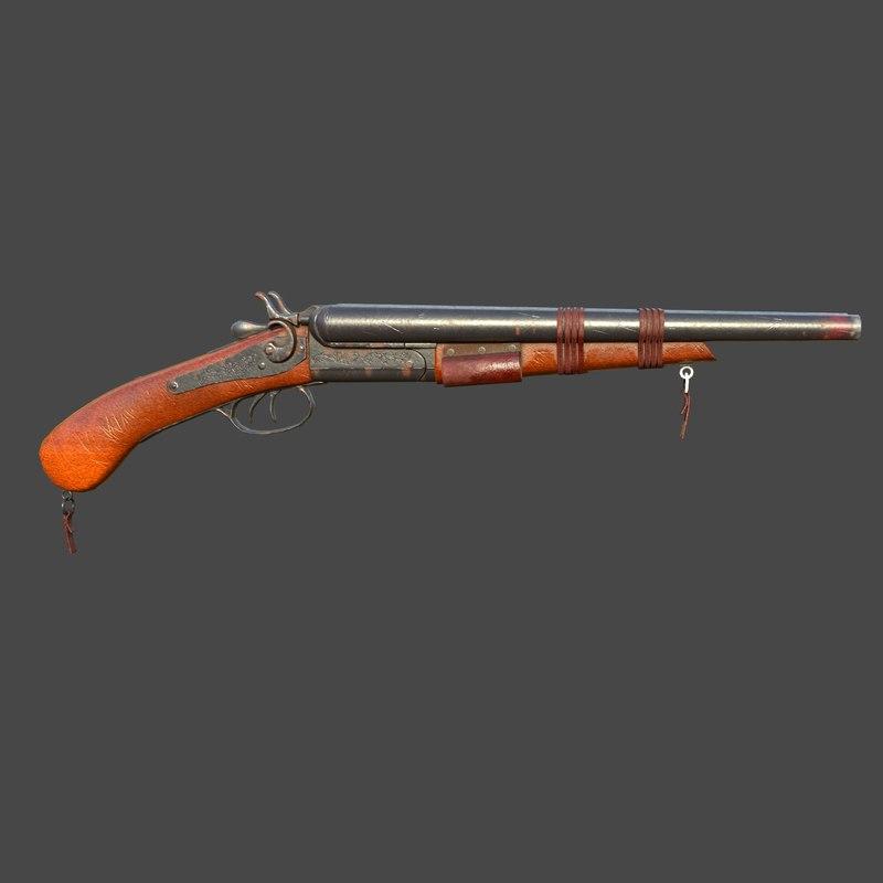 3d 1864 wells shotgun model