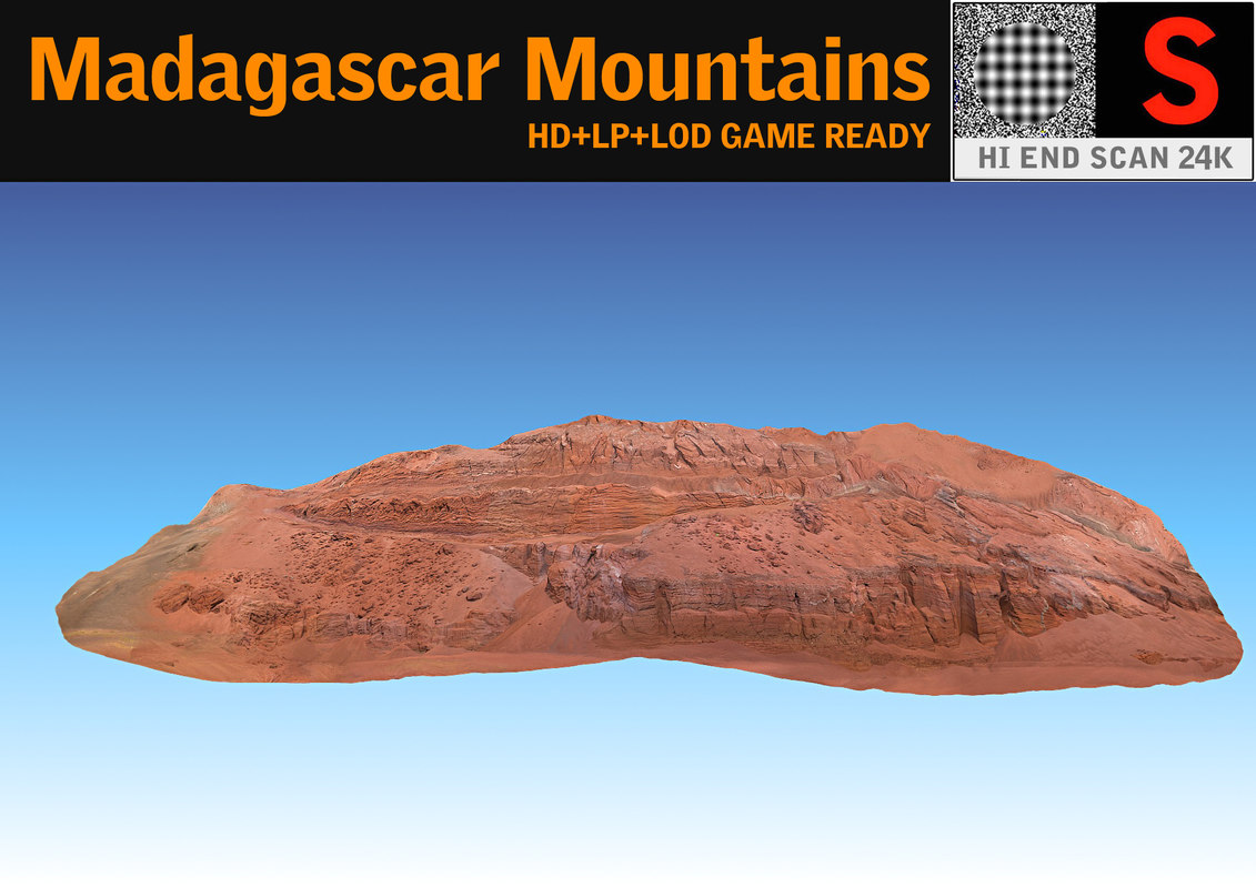 3d madagascar mountains 24k