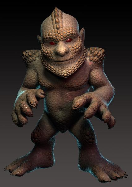 earth creature 3d model