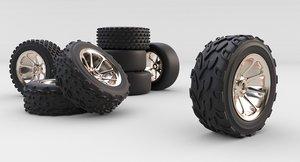 free obj model wheels rc cars