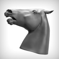 horse head 3d obj