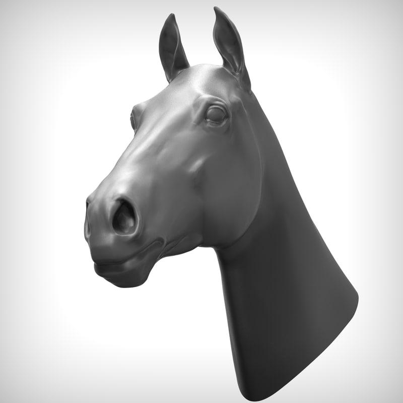3d model horse head