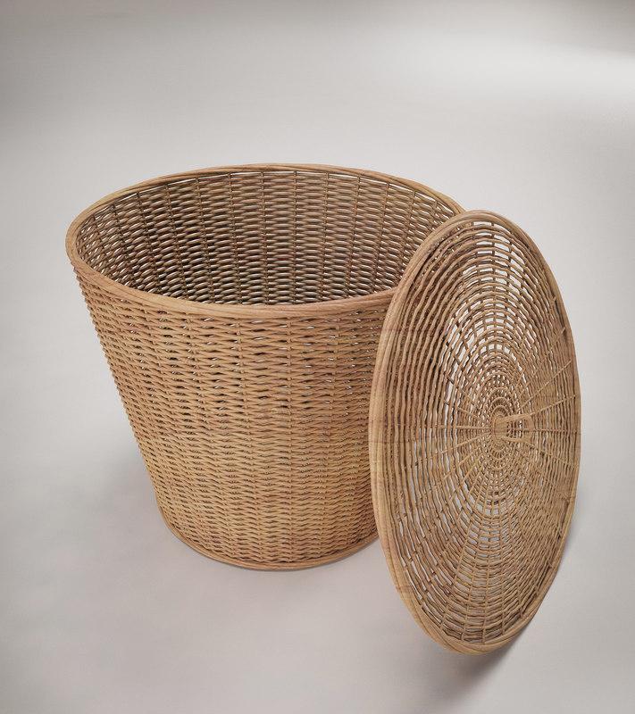 3d model basket realistic