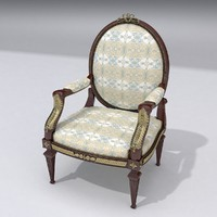 3d model of classical chair