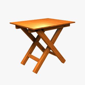 civil war camp table 3d obj