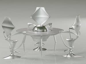 3d table dining model