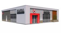 3d model panda express