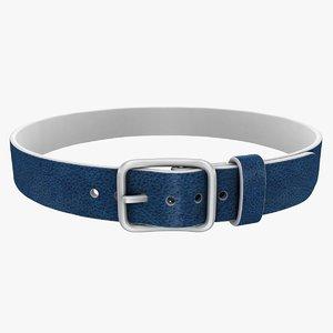 realistic belt 2 blue 3ds
