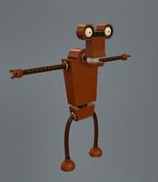 robot futurama roberto 3d model