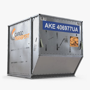 airport cargo container ld3 3d model