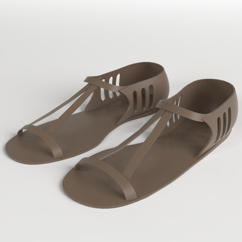 3d sandals 1 model