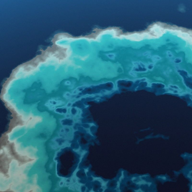 atoll island 3d max