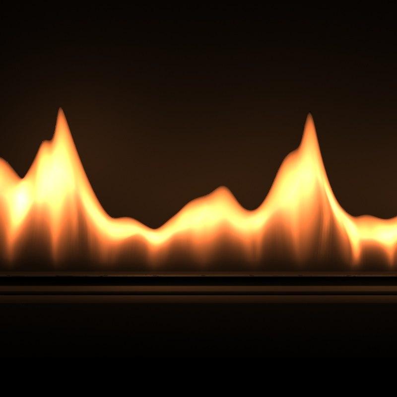 3d max looping flame geometry