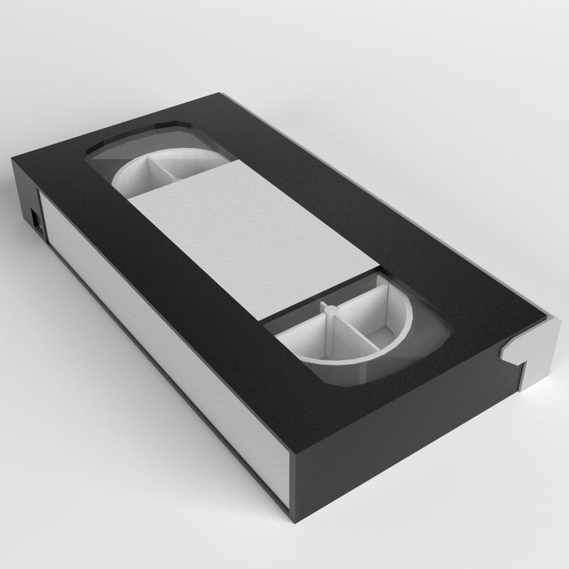 3d vhs videotape cassette model