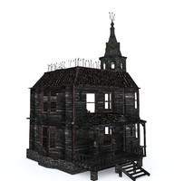 3d abandoned house