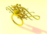 Golden Door Handle With Ring