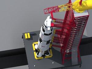 max saturn 5 rocket launcher