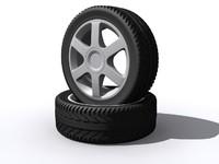 3d model of wheel tyre