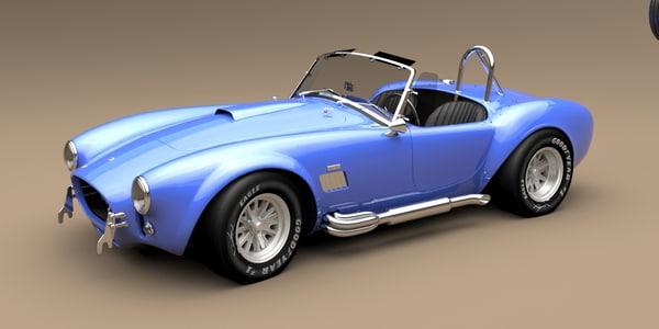 3d model ac cobra 1965