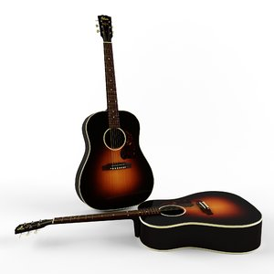 gibson j-45 3d max