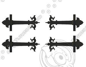 3d decorative onlays slavic gates model