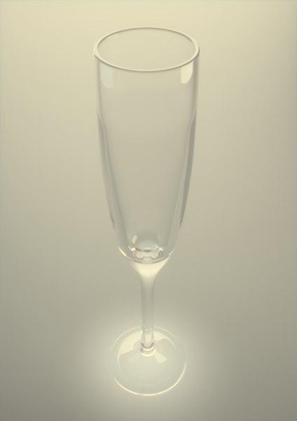 3d champagne glass