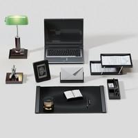 3d desk accessories model