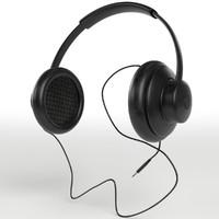 hi-fi headphones 3d max