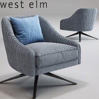 Roar Rabbit Swivel Chair_Imported_West Elm_Lichen