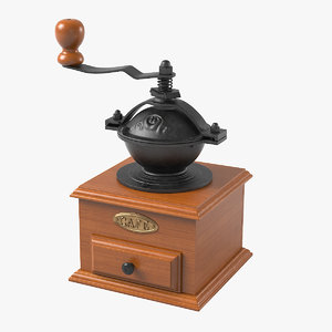 manual crank coffee grinder 3d model