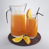 jug orange juice obj