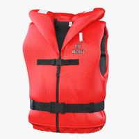 life jacket v2 3d fbx