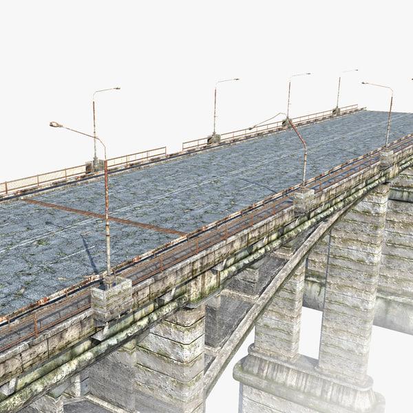 3ds low-poly road bridge