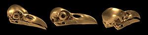 3d raven skull model