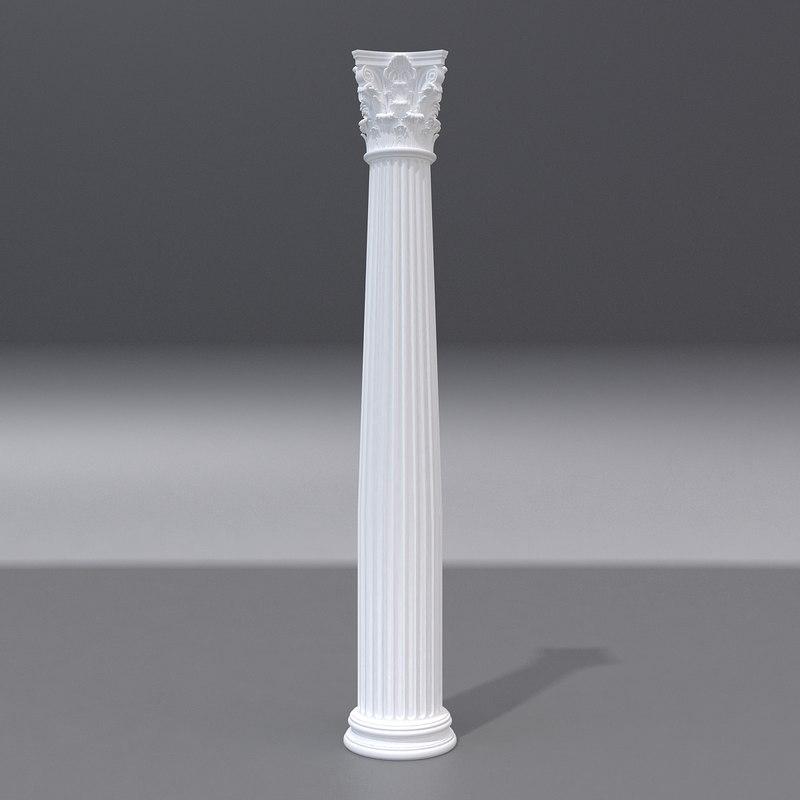 antique column 3d max