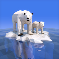 Low Poly Polar Bear