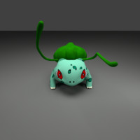 3d obj bulbasaur pokemon