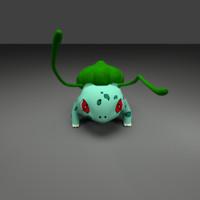 3d obj bulbasaur pokemon