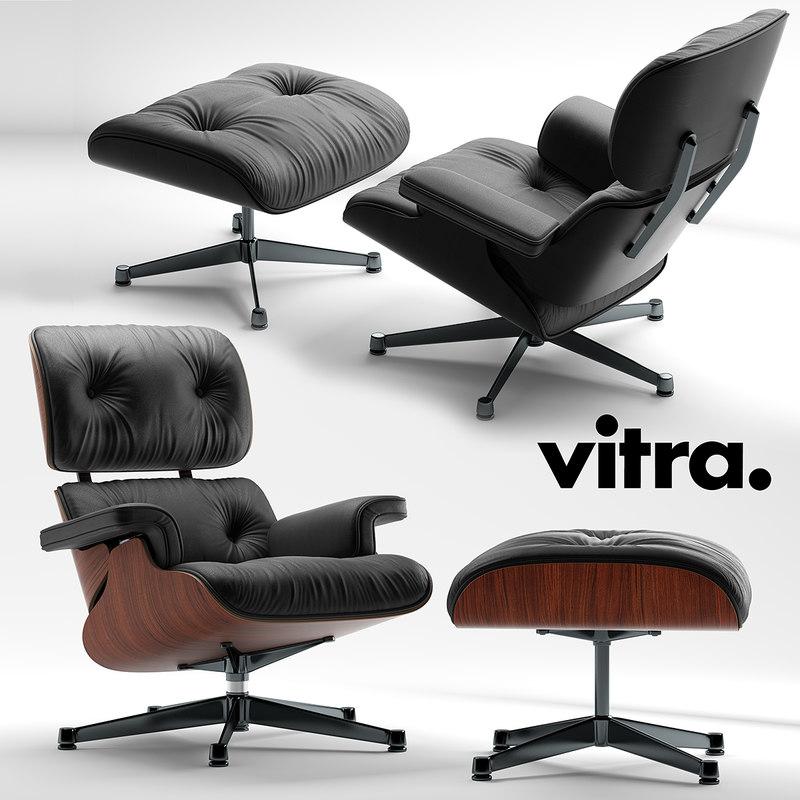 3d model vitra lounge chair