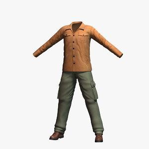 3d mens clothing 3 model