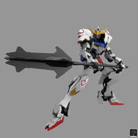 asw-g-08 gundam barbatos 4th 3d obj