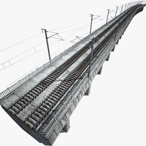 railway viaduct 3d model
