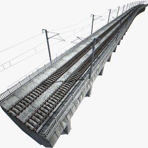 railway viaduct 3d model