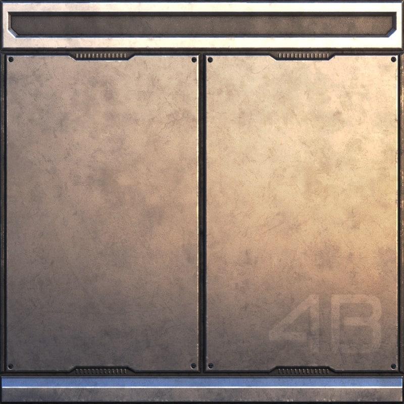 sci-fi wall panel - 3d obj