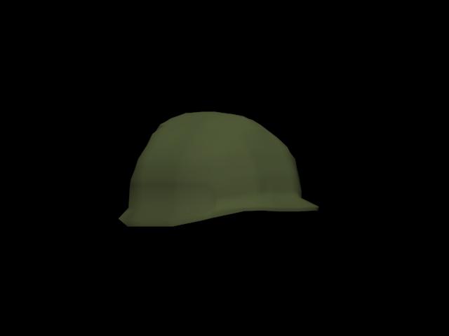 3d model m1 helmet